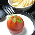 料理メニュー写真名物!真っ赤な太陽~バケット添え~