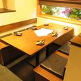 【1階】ボックスのテーブル席になります。最大6名様・4名様の2席となります。