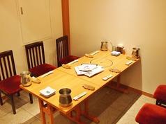 テーブル席(半個室)もご用意しております。