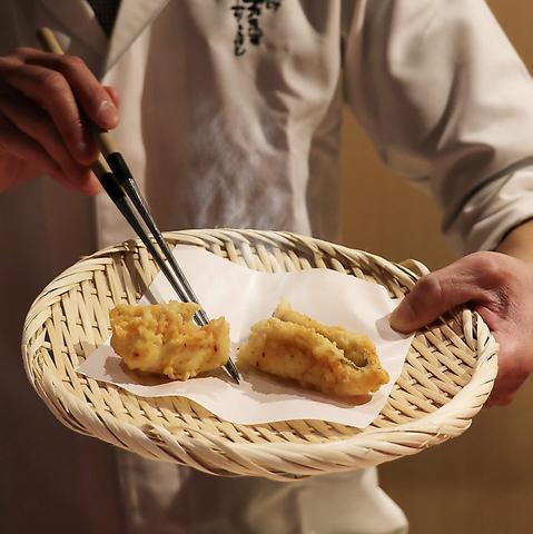 【予約殺到人気天ぷら専門店】厳選旬魚や季節食材をコースで堪能できるお店