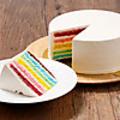 料理メニュー写真カラフルレインボーケーキ