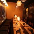 テーブル個室は2~20名様までご用意!定番の居酒屋メニューから九州料理!馬刺し・明太子・もつ鍋・泳ぎイカなど豊富な種類を居酒屋で楽しんで頂けます。九州魂の名物を味わい尽くし、個室居酒屋なのでゆったりと落ち着いてお食事ができます★個室は人気なためお早めのご予約をお待ちしております◇
