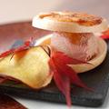 料理メニュー写真古白鶏のレバームースと奈良漬けの最中