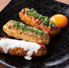 特製つくね3種(卵黄添え&玉ねぎ塩ダレ&チーズソース)