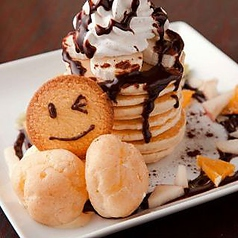 料理メニュー写真チョコバナナパンケーキ