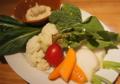 料理メニュー写真・東京野菜のアンチョビマヨネーズ