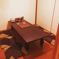 完全個室のお席も完備!