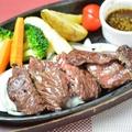 料理メニュー写真牛カットステーキ
