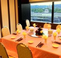 福山城を一望できる個室…!