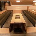 【ソファー席】8名様×5席 広々としたソファー席は少人数のご宴会に人気のお席です。