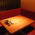 落ち着いたテーブル席。様々なシーンでご利用いただけます。デートにも最適。