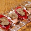料理メニュー写真マグロ&鶏ささ身カルパッチョトリュフのせ 2個楽しめるセット