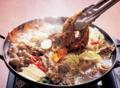 料理メニュー写真石鍋オサムプルコギ(豚肉+イカプルコギ)