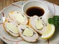 料理メニュー写真柔らかささ身のチーズフライさっぱりポン酢添え