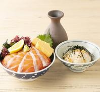 ランチ限定サーモン丼