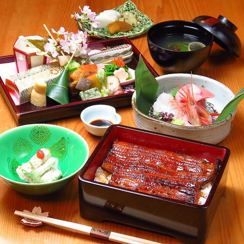 川越と言えばさつまいも。さつまいもと鰻、全国からの旬の食材を厳選し料理。