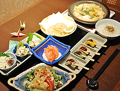 ゆば 豆ふ料理 梟のコース写真