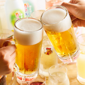 【ドリンク内容充実】お料理に合わせたお酒を種類豊富にご用意しております♪生ビール、カクテル、梅酒、ワイン、銘柄焼酎、日本酒、ハイボール、サワー、オリジナルドリンクなど…♪さらにお酒好きのお客様には、飲み放題プランも♪当店ではお時間に合わせて飲み放題プランをご用意♪