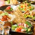 食べ飲み放題以外にもおすすめ通常コースございます♪お造り4種盛りや穴子のちらし寿司などが入った全9品!通常コースは4000円~5000円でご用意しております♪