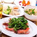 料理メニュー写真海老のハーブチリソース