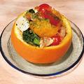 料理メニュー写真トマトと旬の果実のサラダ