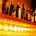 世界各国のワイン・オーガニックワインを約40種ボトルは3500円(税抜)でご用意しています。