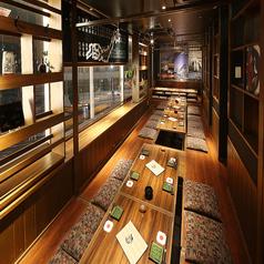 .最大35名様の大宴会個室!会社の大宴会にご利用下さい!扉を入れれば何名様でも個室でご用意できます。