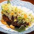 料理メニュー写真和牛ロースのステーキ ガーリックバター醤油