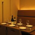落ち着きのあるプライベート空間で、美味しいパスタやピザをお楽しみください!