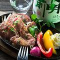 料理メニュー写真スペイン産イベリコ豚ベジョータの炙り焼き
