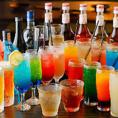 充実の飲み放題は、その数なんと130種類!!!女性に人気の定番カクテルから当店ならではの健康カクテルまで…