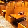 テーブル席、お座敷席、掘りごたつ、個室等さまざまな席をご用意!