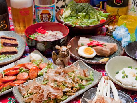 雑貨やBGMに至るまで沖縄一色!トロピカルなムードと美味しい沖縄料理を満喫☆