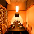 【4~6名様席】和モダンで温もりあるつくりは、仲の良い仲間との飲み会にも最適です。