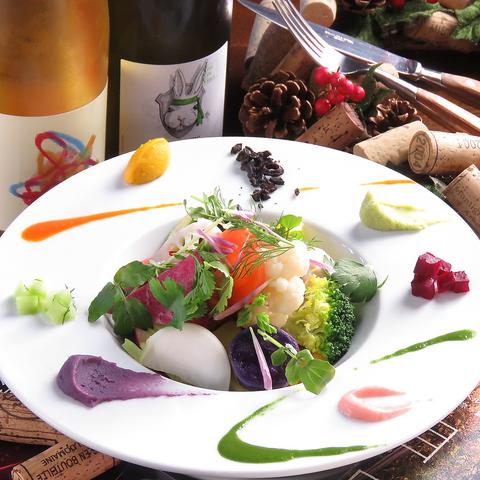◆ナチュラルワインと旬の食材を活かした彩り鮮やかなビストロ料理のワインバー◆