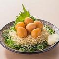 """料理メニュー写真燻製風の""""つまみ""""うず玉"""