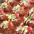 料理メニュー写真定番!柿安特製のハンバーグ