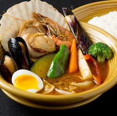料理メニュー写真北海道産ホタテのシーフードスープカレー