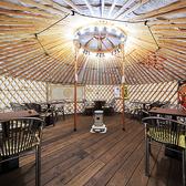 2名様~ご利用可能◎モンゴルの遊牧民が暮らすゲルの中でゆったりお食事♪リラックスできるお席でお楽しみいただけます。会社宴会や気の合う仲間との飲み会、女子会にもぴったり!飲み放題付のコースもご用意しております。※ゲルの利用は6月末まで。