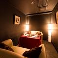 少人数での会社宴会にもピッタリの上質な空間♪4~8名様迄の完全個室の空間で、様々なシーンに対応☆