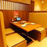 4名様用のボックス席。お仕事帰りなど気軽なお食事にどうぞ。