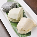 料理メニュー写真おいしい豆腐三色盛り