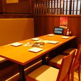 4名~6名のテーブル席。飲み会のお集まりは『三間堂』にお任せ下さい♪小人数でもご安心。お客様だけの空間を楽しんで頂けるよう各種多様な個室もご用意致しております。普段使いの飲み会から、上品な女子会など時と場を選ばない人気のお席です。様々なシーンにお使い下さい(高槻/居酒屋/個室/宴会/送別会/歓迎会/飲み放題)
