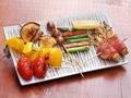 料理メニュー写真野菜串盛り合わせ