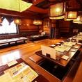 宴会個室は最大34名様まで。宴会にピッタリの掘りごたつ席です。