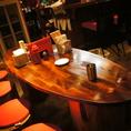 8名OK!円卓のテーブル席