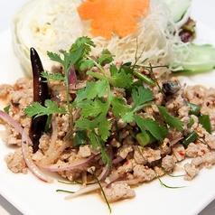 料理メニュー写真豚ひき肉の辛味ハーブ和え~ラープ・ムー~