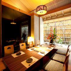 庭園を眺めながらの個室は接待や会食等に。