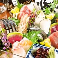 瀬戸内から仕入れる鮮魚。人気の箱盛り刺身1780円~!