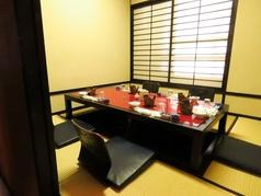 【5F】全席畳席4名様~5名様のご利用に最適な掘りごたつ式個室もご用意